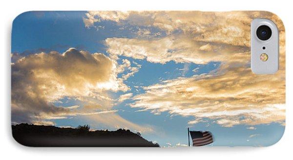Golden Moment For Our Flag IPhone Case by Carolina Liechtenstein