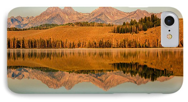 Golden Mountains  Reflection Phone Case by Robert Bales