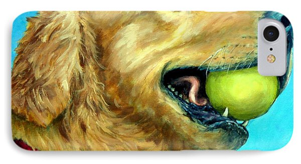 Golden Retriever Profile With Tennis Ball Phone Case by Dottie Dracos