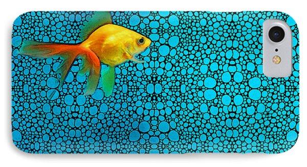 Goldfish Study 3 - Stone Rock'd Art By Sharon Cummings IPhone Case by Sharon Cummings