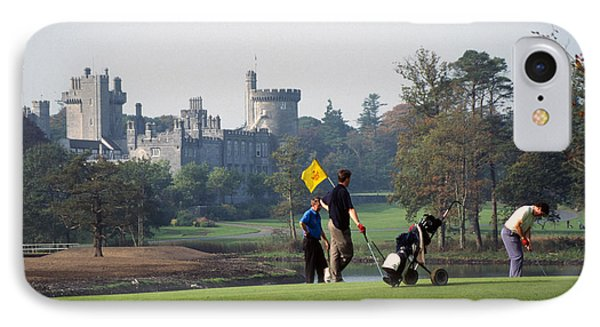 Golfing At Dromoland Castle IPhone Case by Carl Purcell