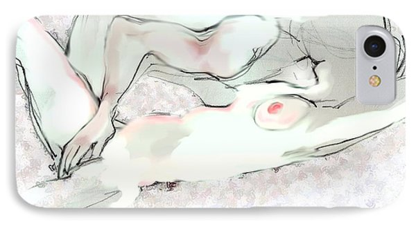 Good Morning - Erotic Art IPhone Case by Carolyn Weltman