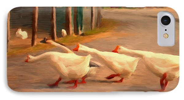 Goose Crossing Phone Case by Michael Pickett
