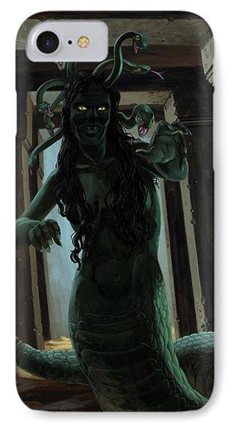 Gorgon Medusa IPhone 7 Case by Martin Davey