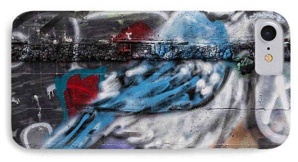 Graffiti Bluejay IPhone Case by Carol Leigh