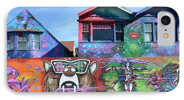 Graffiti House Phone Case by Fraida Gutovich
