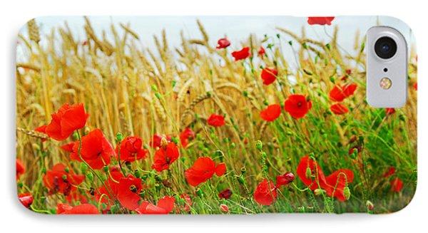 Grain And Poppy Field Phone Case by Elena Elisseeva