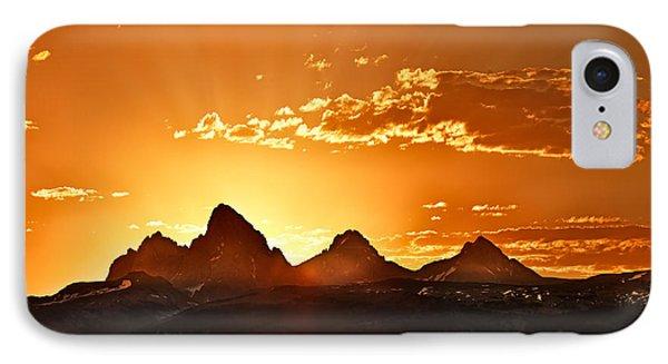 Grand Teton Sunrise IPhone Case by Leland D Howard