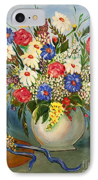 Grandma's Hat And Bouquet Phone Case by Janice Rae Pariza