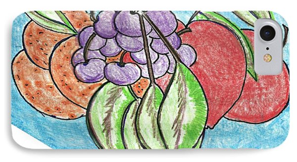Grapes Phone Case by Becky Sterling