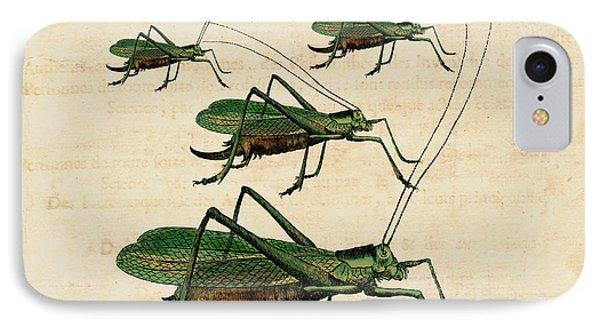 Grasshopper Parade IPhone 7 Case by Antique Images