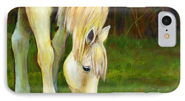 Grazing Horse IPhone Case by Blenda Studio