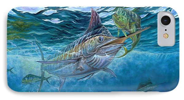 Great Blue And Mahi Mahi Underwater IPhone Case by Terry Fox