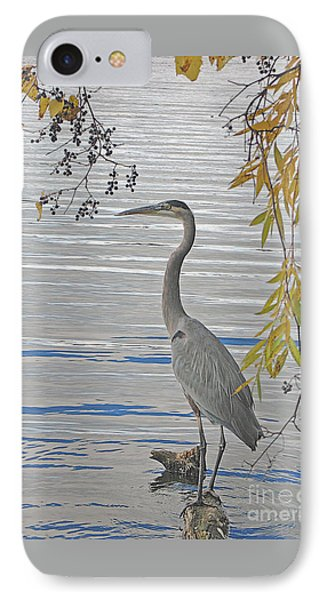Great Blue Heron Phone Case by Ann Horn
