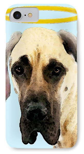 Great Dane Art - I Didn't Do It IPhone Case by Sharon Cummings