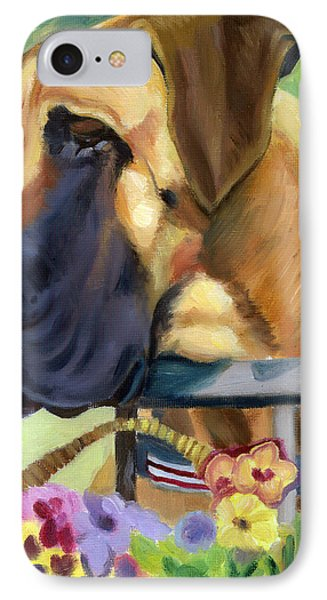 Great Dane On Balcony IPhone Case by Lyn Cook