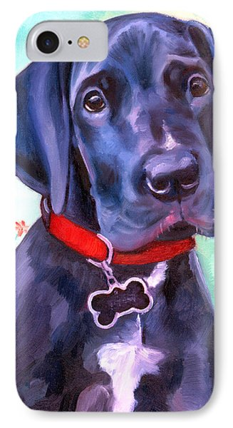 Great Dane Puppy Sweetness IPhone Case by Lyn Cook