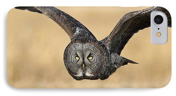 Great Gray Owl In Flight Phone Case by Daniel Behm