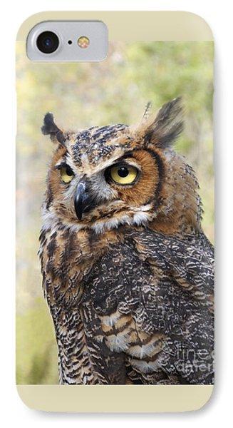 Great Horned Owl Phone Case by Ann Horn