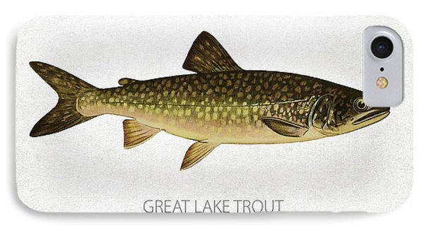 Great Lake Trout IPhone Case by Aged Pixel