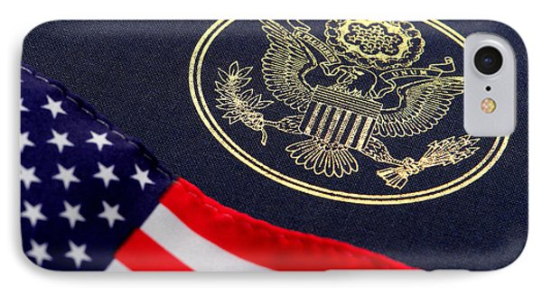 Great Seal Of The United States And American Flag IPhone Case by Olivier Le Queinec