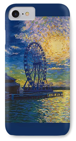 Great Wheel Sunset IPhone Case by Francesca Kee