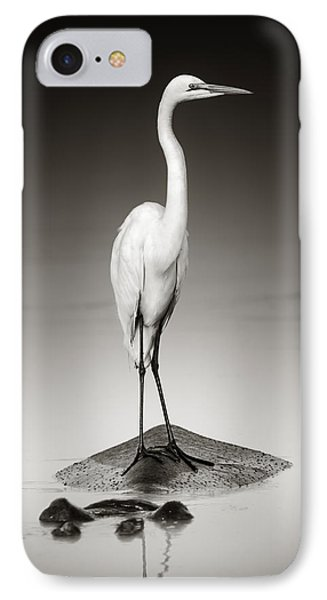 Great White Egret On Hippo IPhone 7 Case by Johan Swanepoel