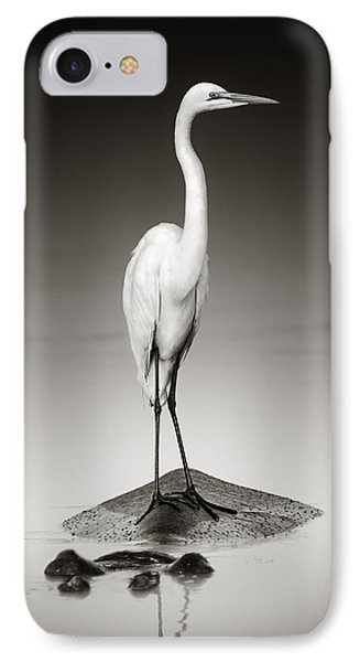 Great White Egret On Hippo IPhone Case by Johan Swanepoel