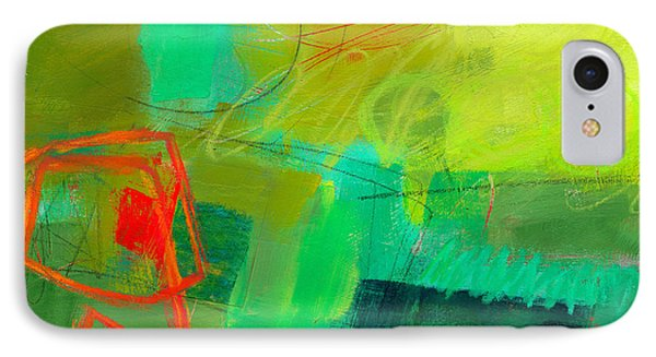 Green And Red #1 IPhone Case by Jane Davies
