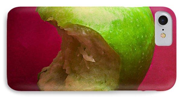 Green Apple Nibbled 6 IPhone Case by Alexander Senin