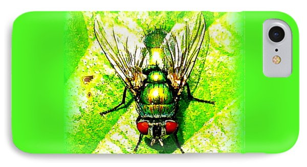 Green Bottle Fly Phone Case by The Creative Minds Art and Photography