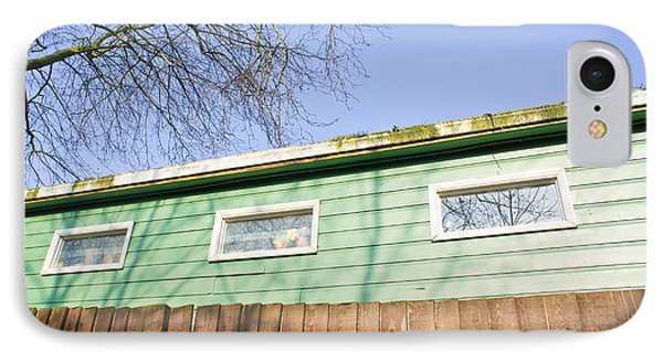 Green Cabin IPhone Case by Tom Gowanlock
