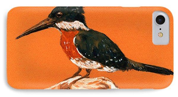 Green Kingfisher IPhone Case by Juan  Bosco