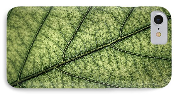 Green Leaf Texture IPhone Case by Elena Elisseeva