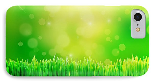Green Nature Background With Fresh Grass Phone Case by Michal Bednarek