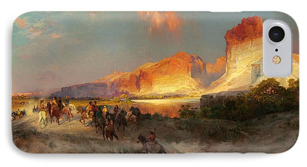 Green River Cliffs Wyoming IPhone Case by Thomas Moran
