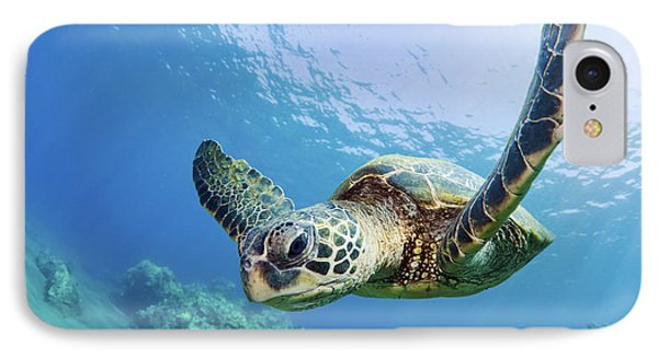 Green Sea Turtle - Maui IPhone 7 Case by M Swiet Productions