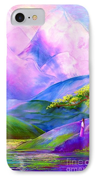 Greeting The Dawn IPhone Case by Jane Small