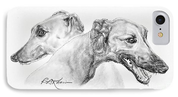 Greyhounds For Two Phone Case by Roy Anthony Kaelin