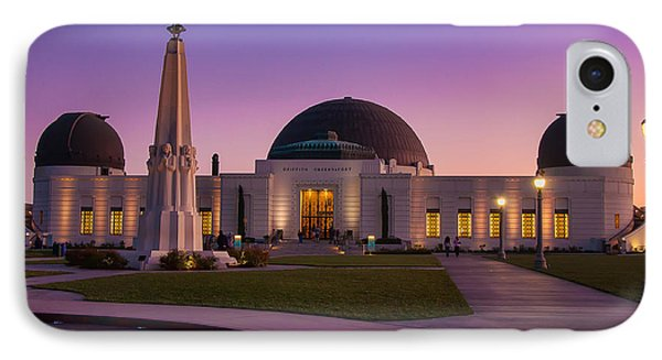 Griffith Observatory Phone Case by Eddie Yerkish