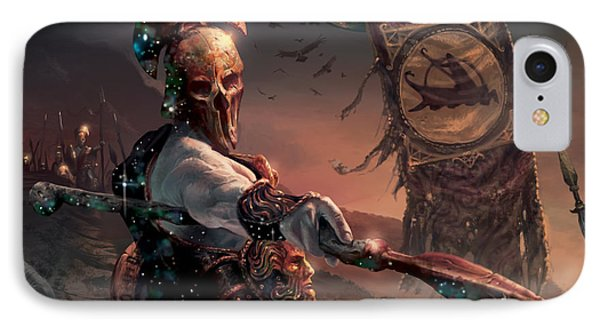 Grim Guardian IPhone Case by Ryan Barger