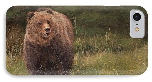 Grizzly IPhone 7 Case by David Stribbling