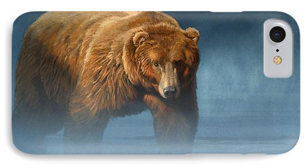 Grizzly Encounter IPhone Case by Aaron Blaise