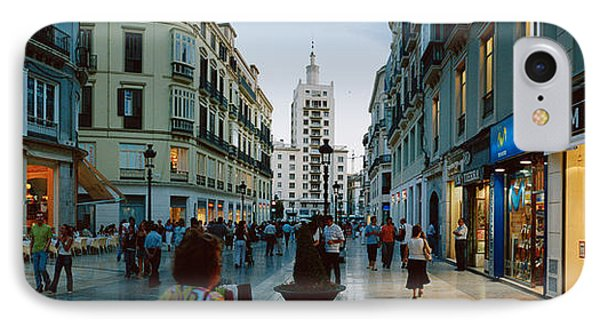 Group Of People Walking On A Street IPhone Case by Panoramic Images