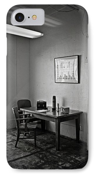 Guard Dining Area In Alcatraz Prison Phone Case by RicardMN Photography