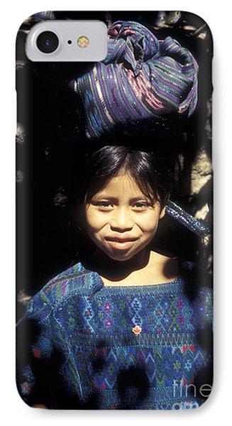 Guatemala Smiling Maya Girl Phone Case by John  Mitchell