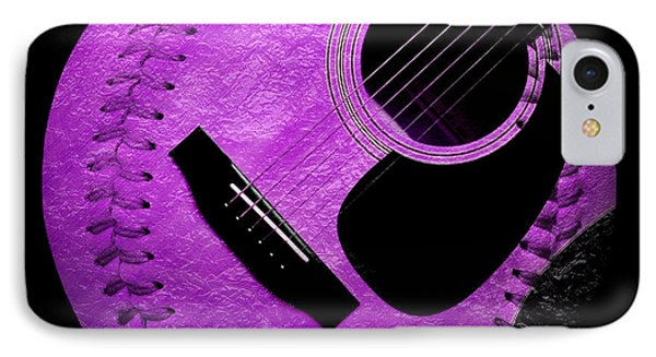 Guitar Grape Baseball Square IPhone Case by Andee Design