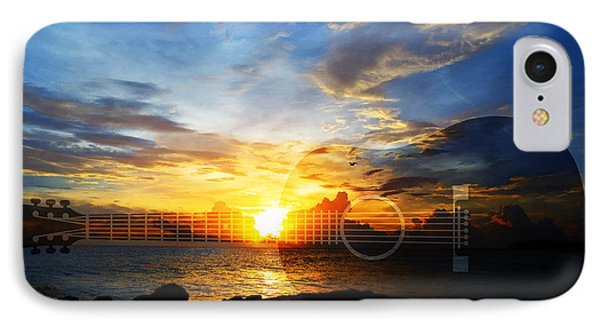 Guitar Sunset - Guitars By Sharon Cummings IPhone Case by Sharon Cummings
