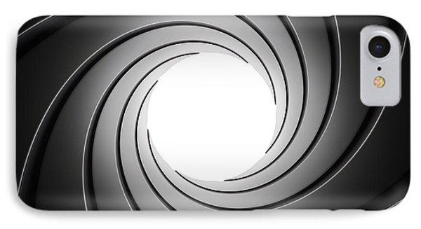 Gun Barrel From Inside IPhone Case by Johan Swanepoel