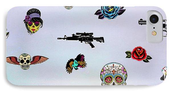 Guns And Roses  IPhone Case by Mark Ashkenazi